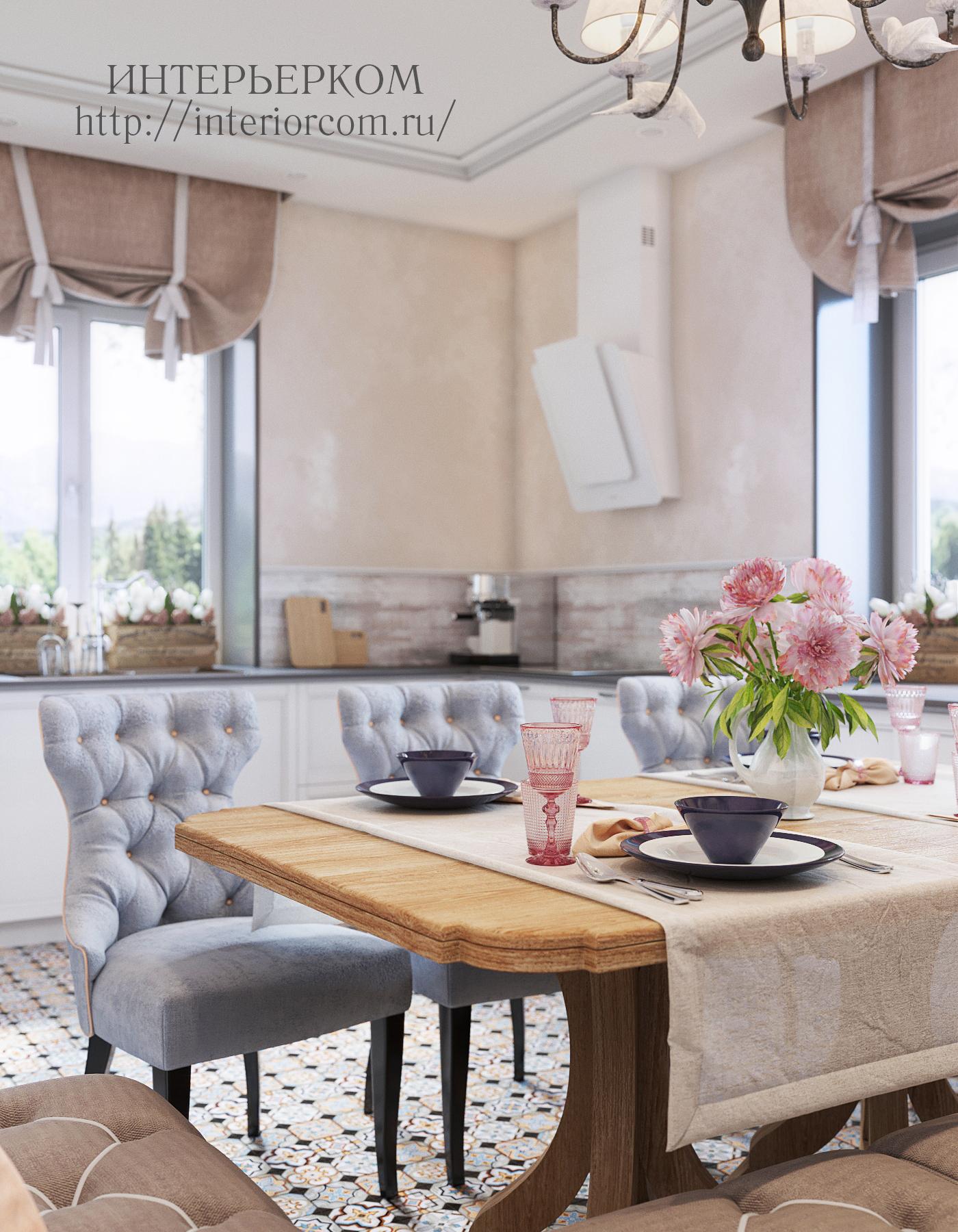 кухня в женском интерьере