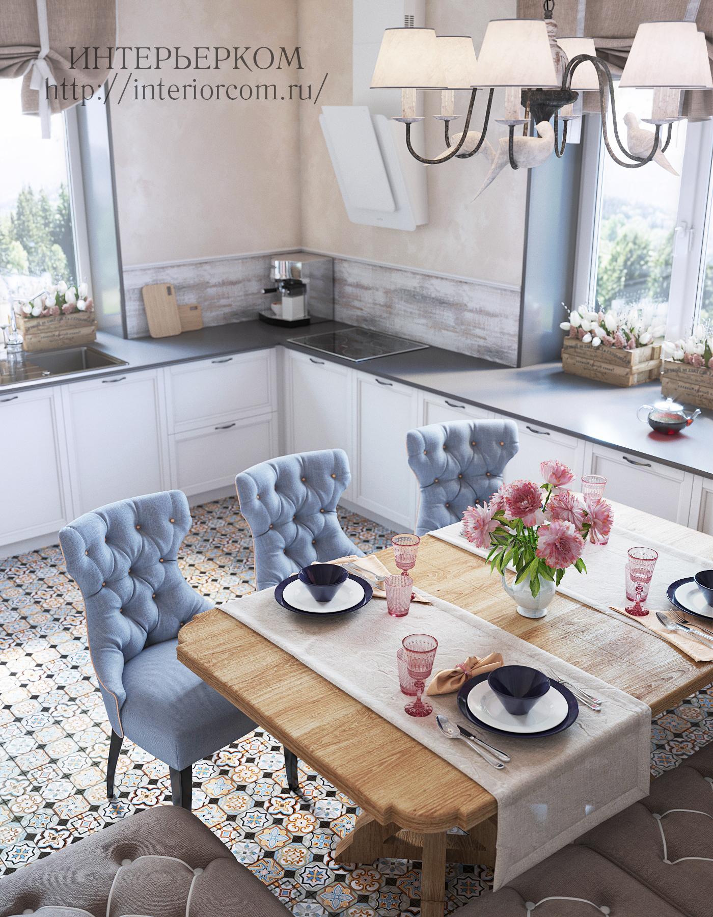 кухня в загородном доме, дизайн