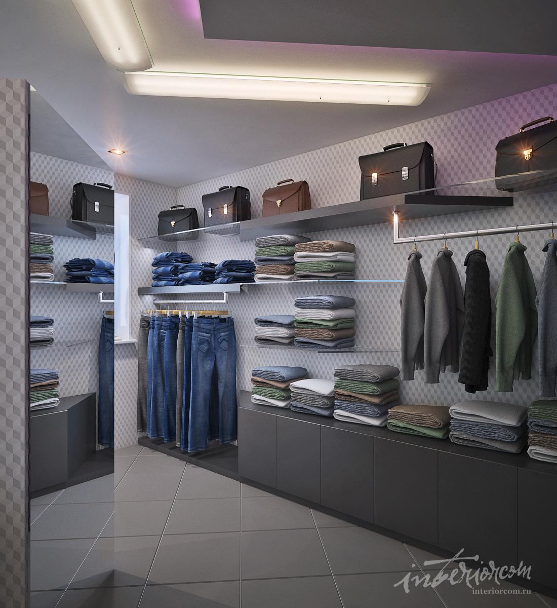 4476c73aafc Магазин мужской одежды  дизайн-проект студии Интерьерком