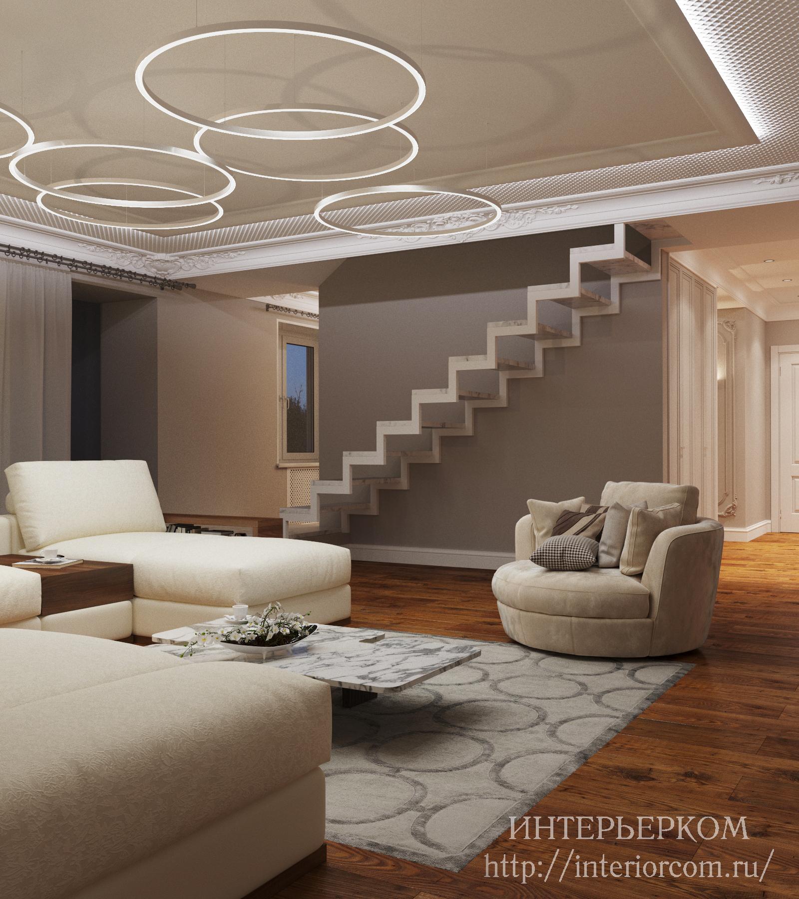 лестница в частном доме, дизайн