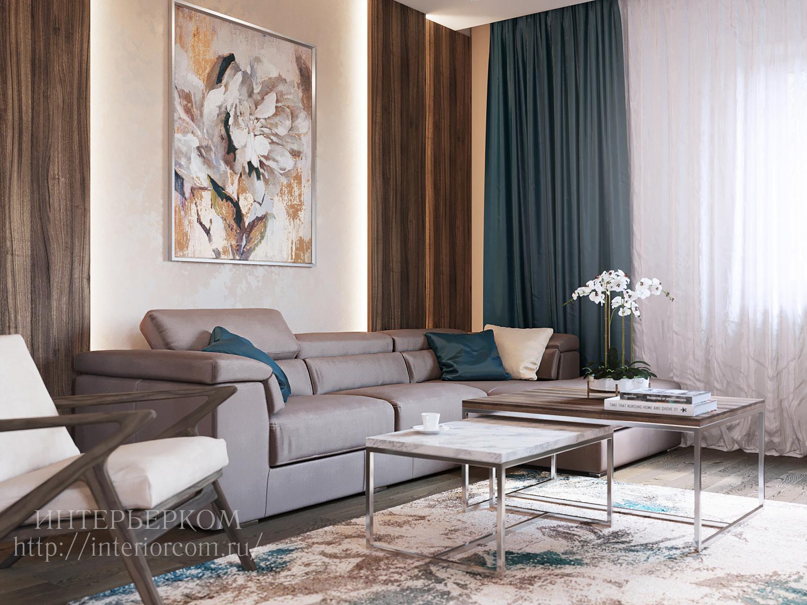 гостиная в коттедже, дизайн