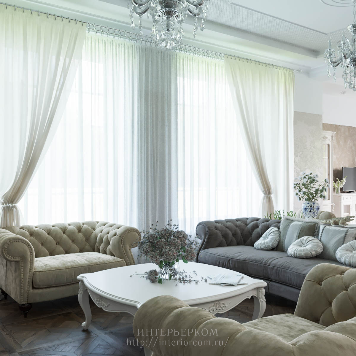 окна в частном доме панорамные, дизайн