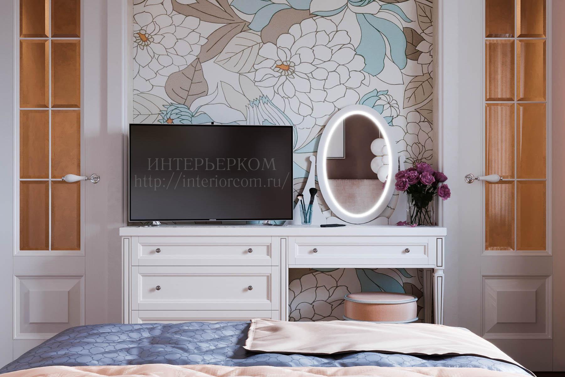 акцентная стена в интерьере спальни