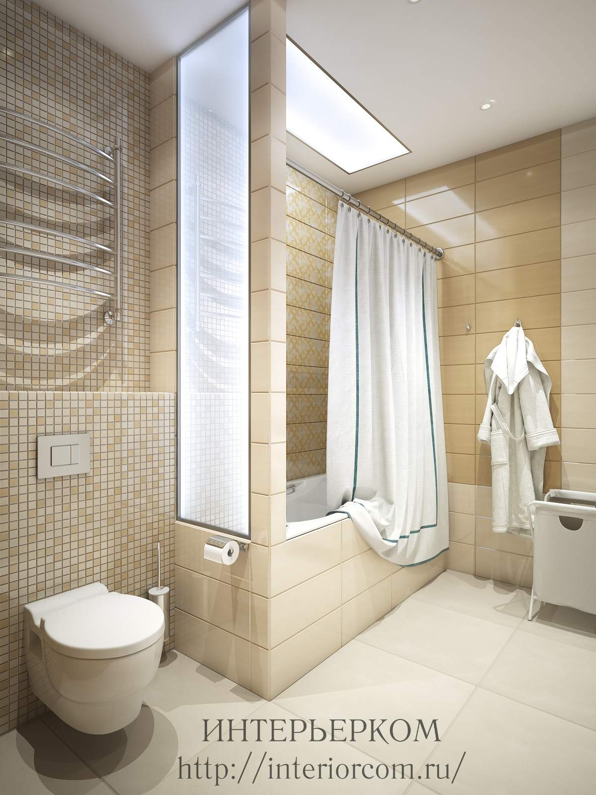 Плитка в ванной, дизайн