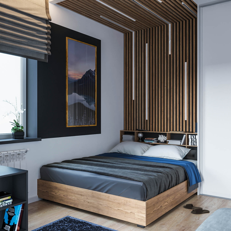 спальня в современном интерьере