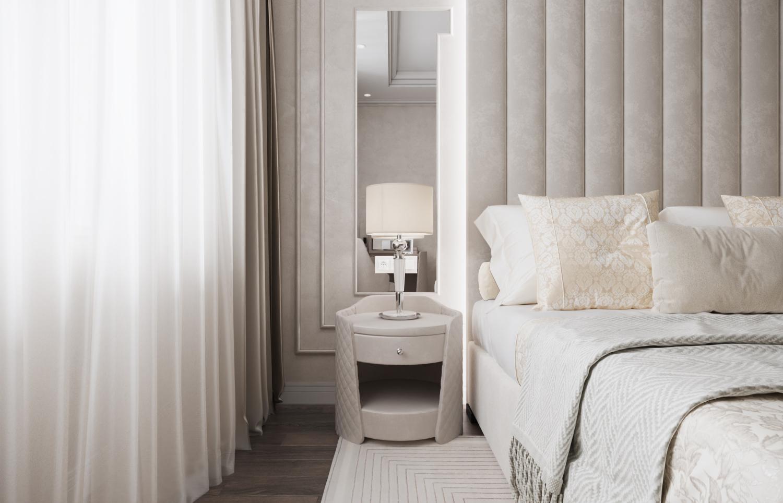 фрагмент спальни из дизайн-проекта квартиры