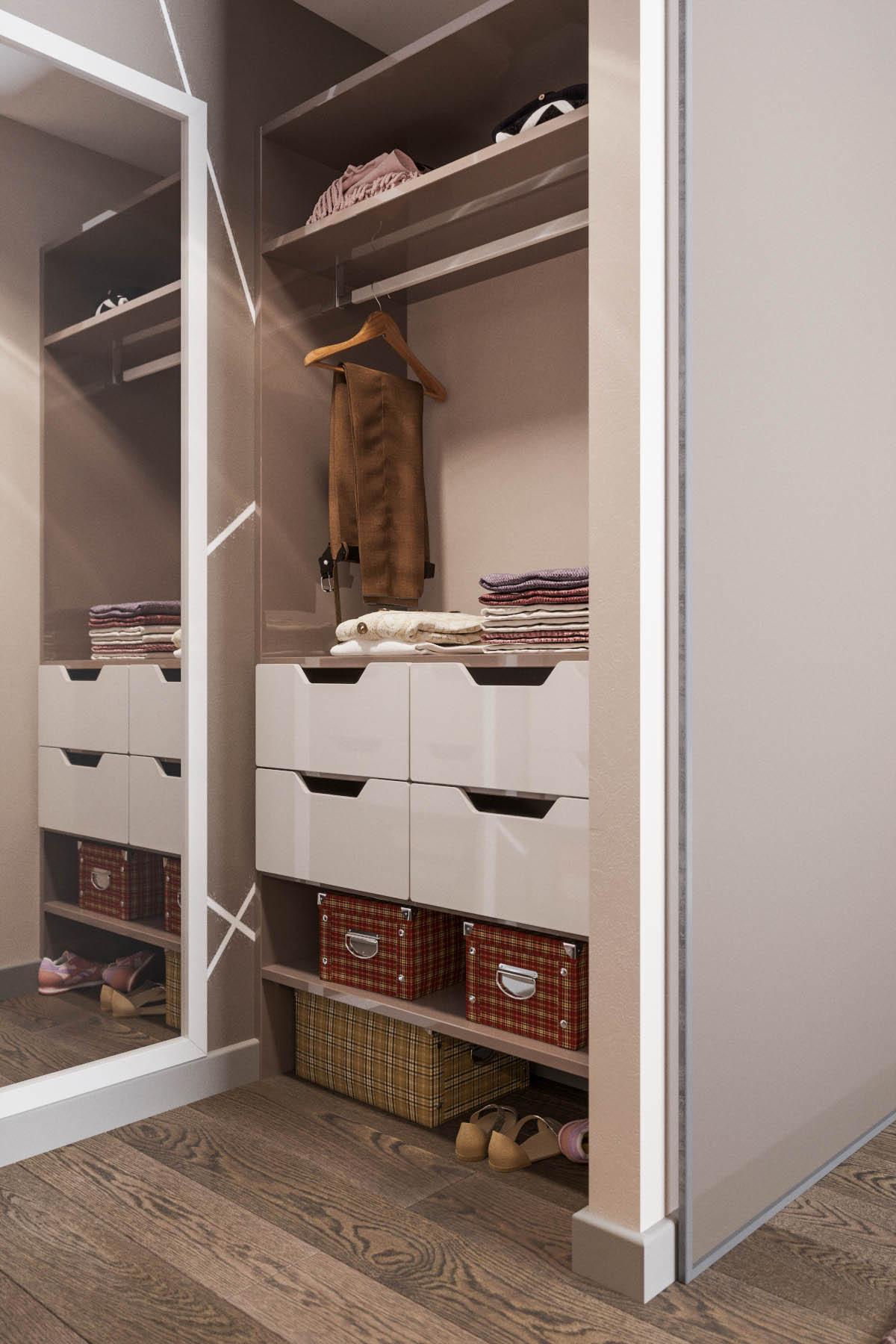 гардеробная в кладовке дизайн
