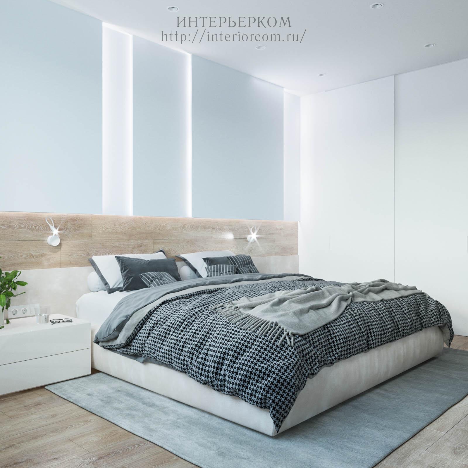 спальня в светлом цвете