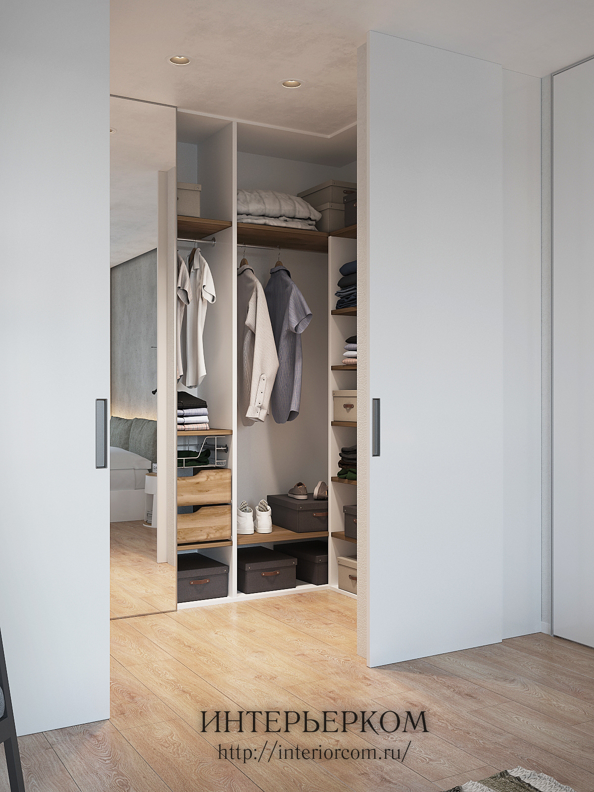шкаф-купе в интерьере квартиры в ЖК Ньютон
