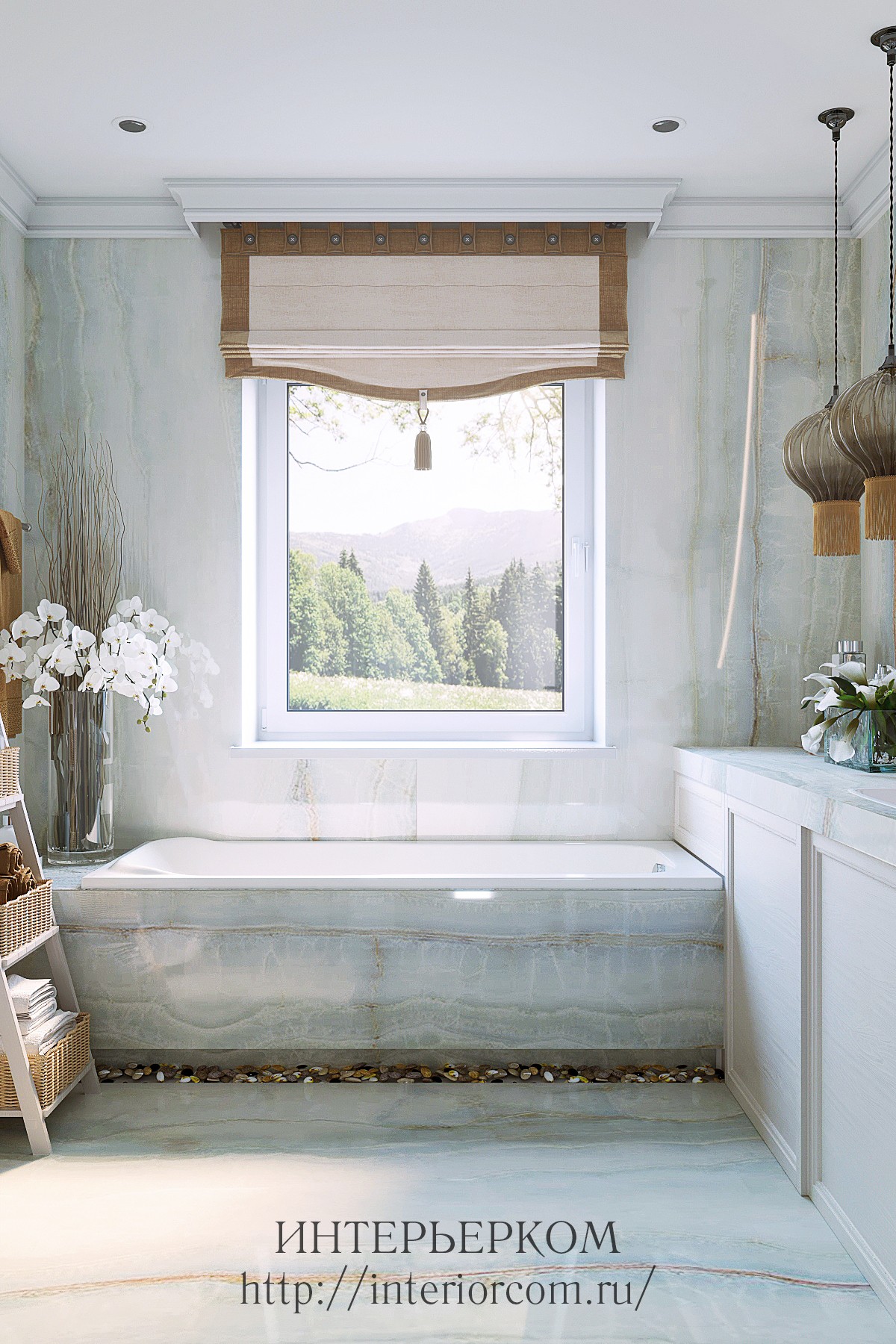 дизайн ванной в жилом доме