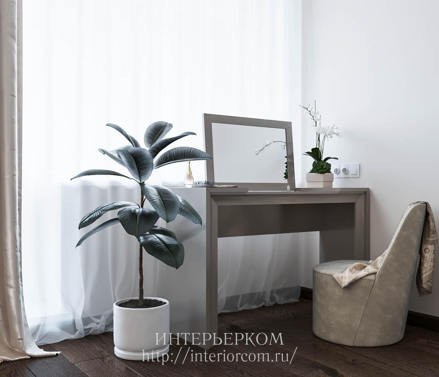 столик с зеркалом в интерьере