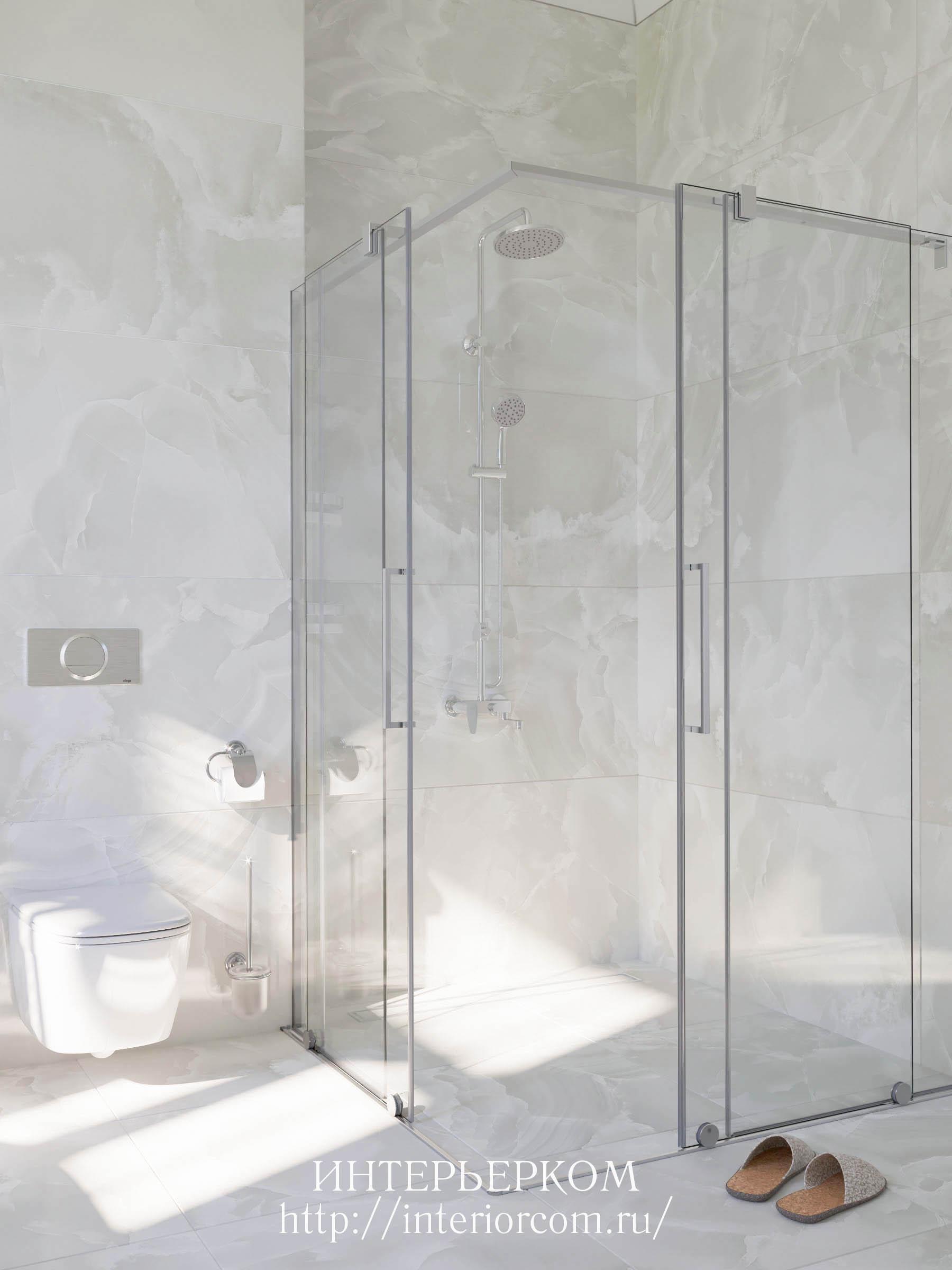 душ без поддона