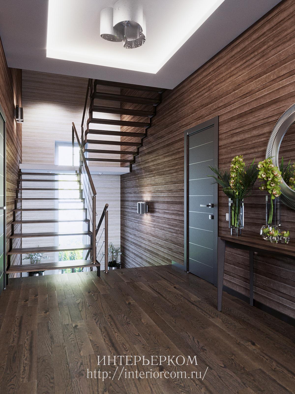дизайн прихожей и коридора в доме
