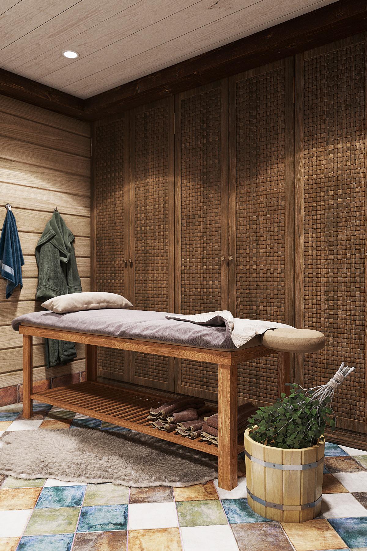 дизайн бани в частном доме
