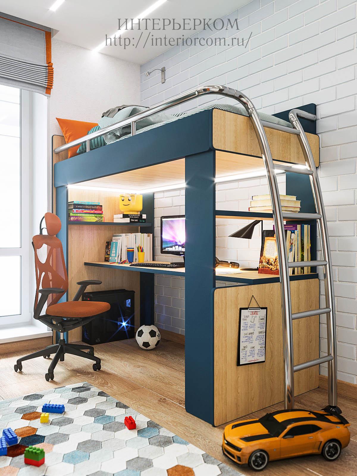 рабочее место школьника, дизайн