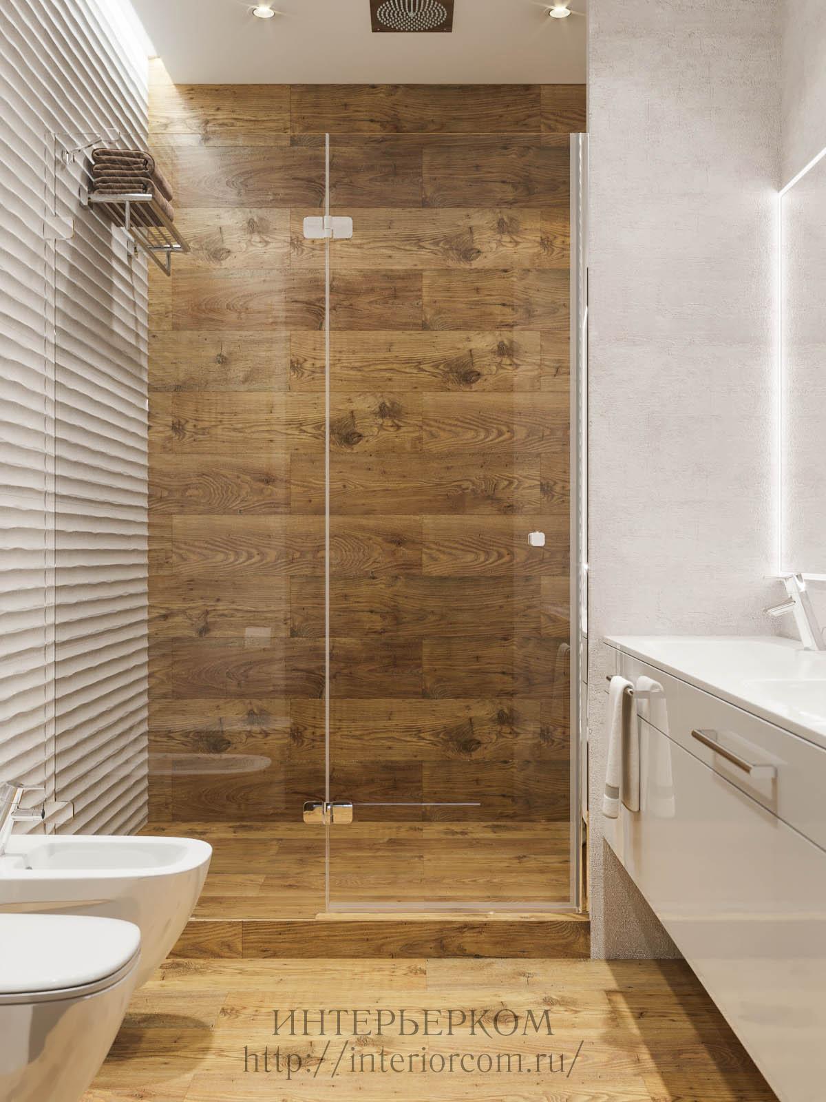 душ современный в интерьере