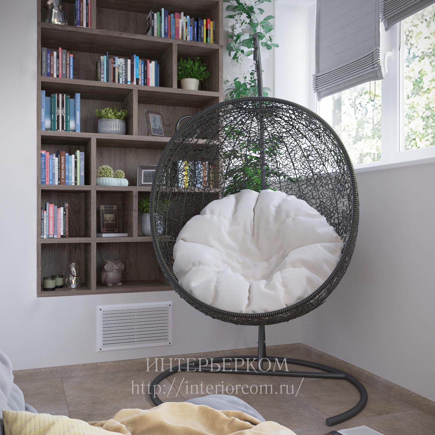кресло в интерьере балкона
