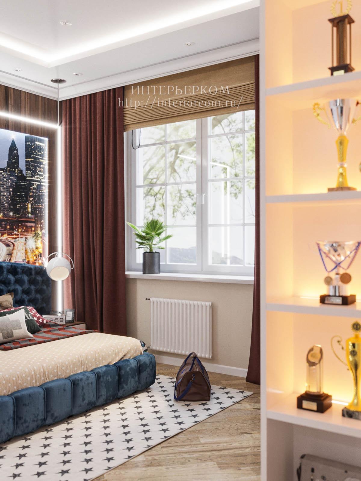 сочетание горизонтальных и вертикальных штор
