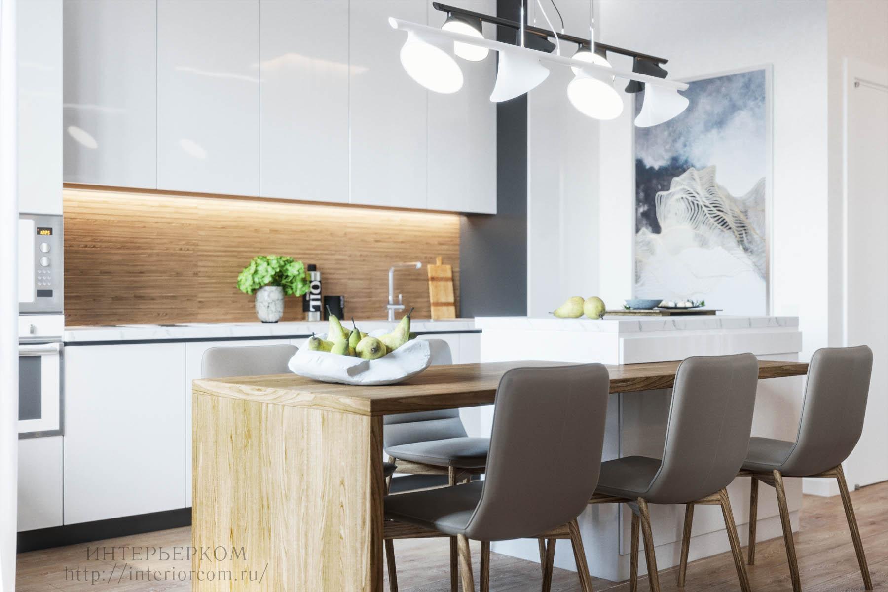 кухонный остров в квартире, дизайн