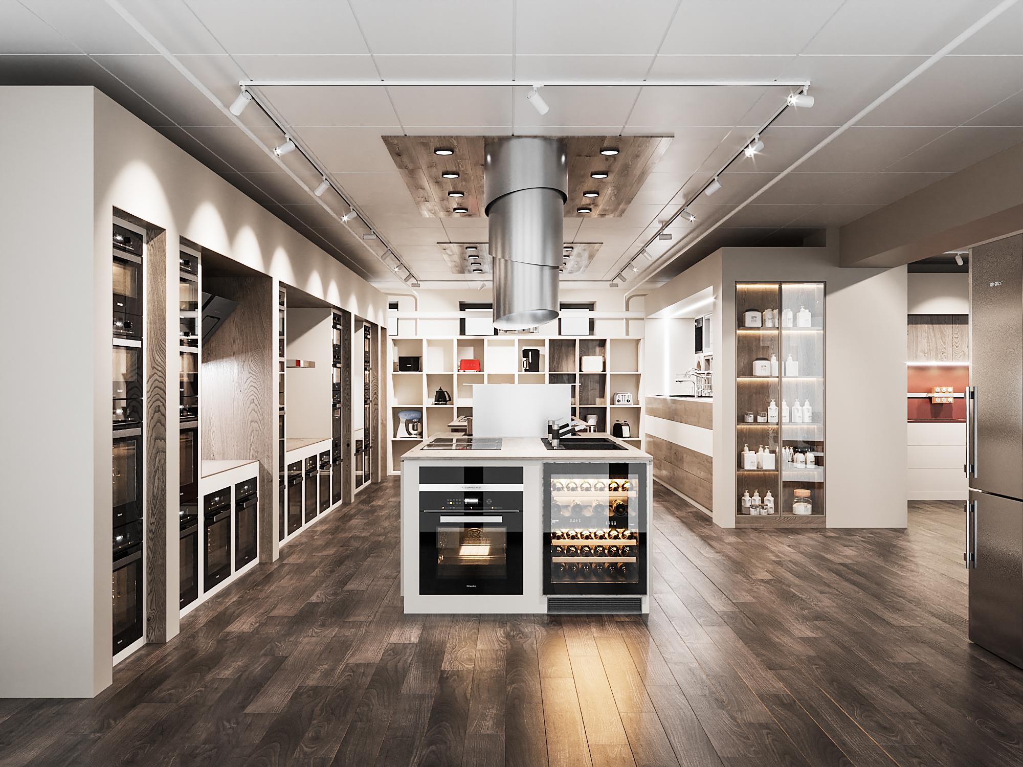 дизайн проект салона кухни
