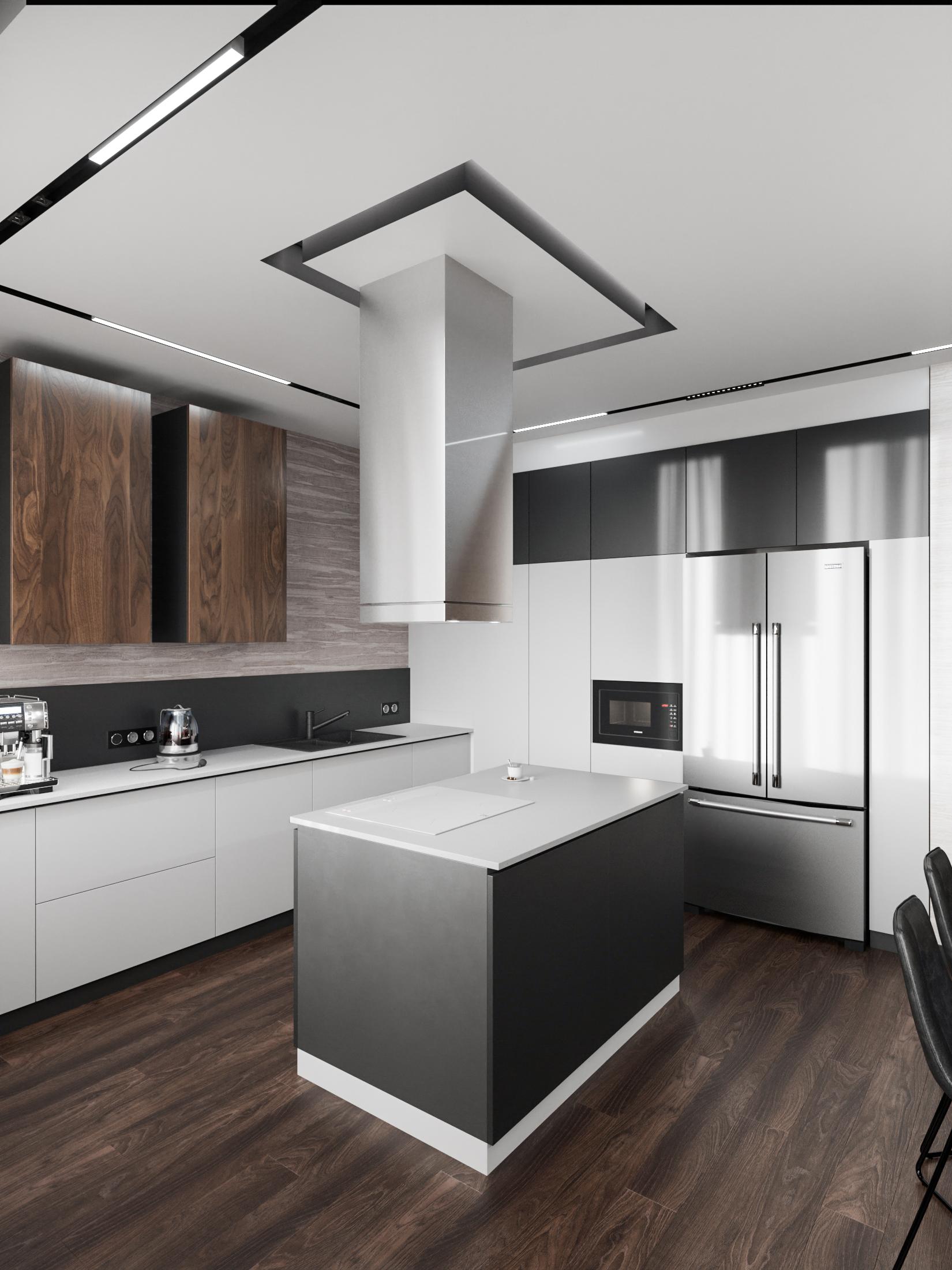 кухонный остров: пример проекта