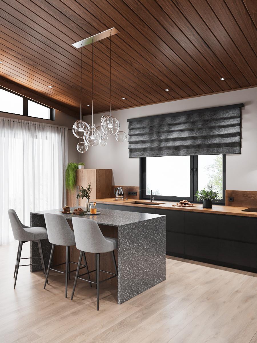 кухня без шкафов
