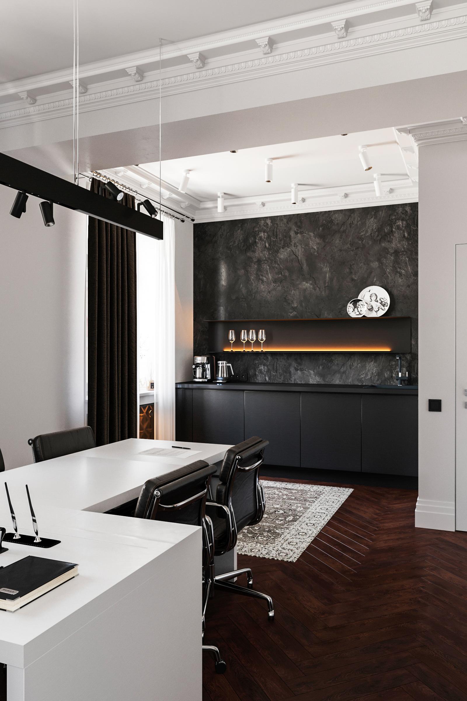 кухня в кабинете гендиректора