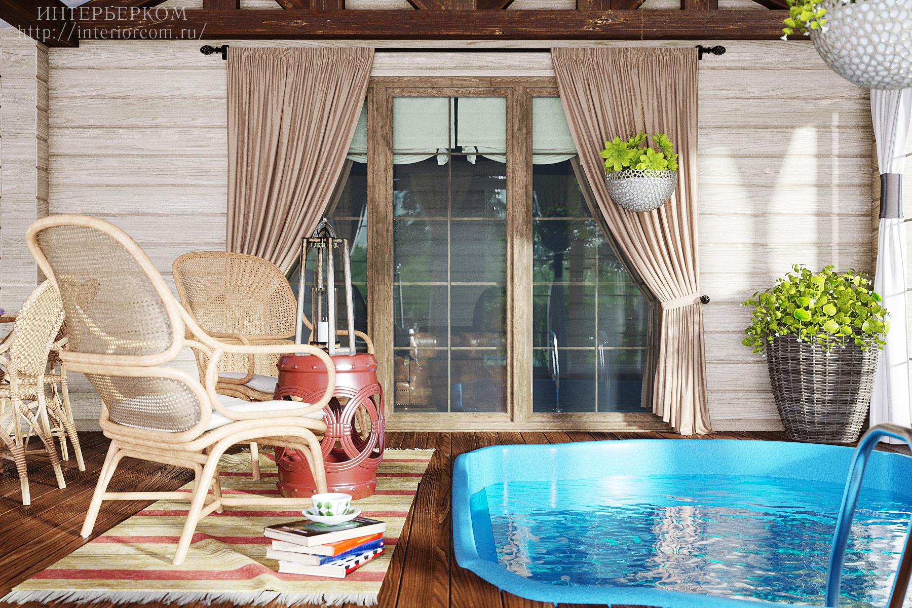 бассейн в доме. Проект Интерьерком