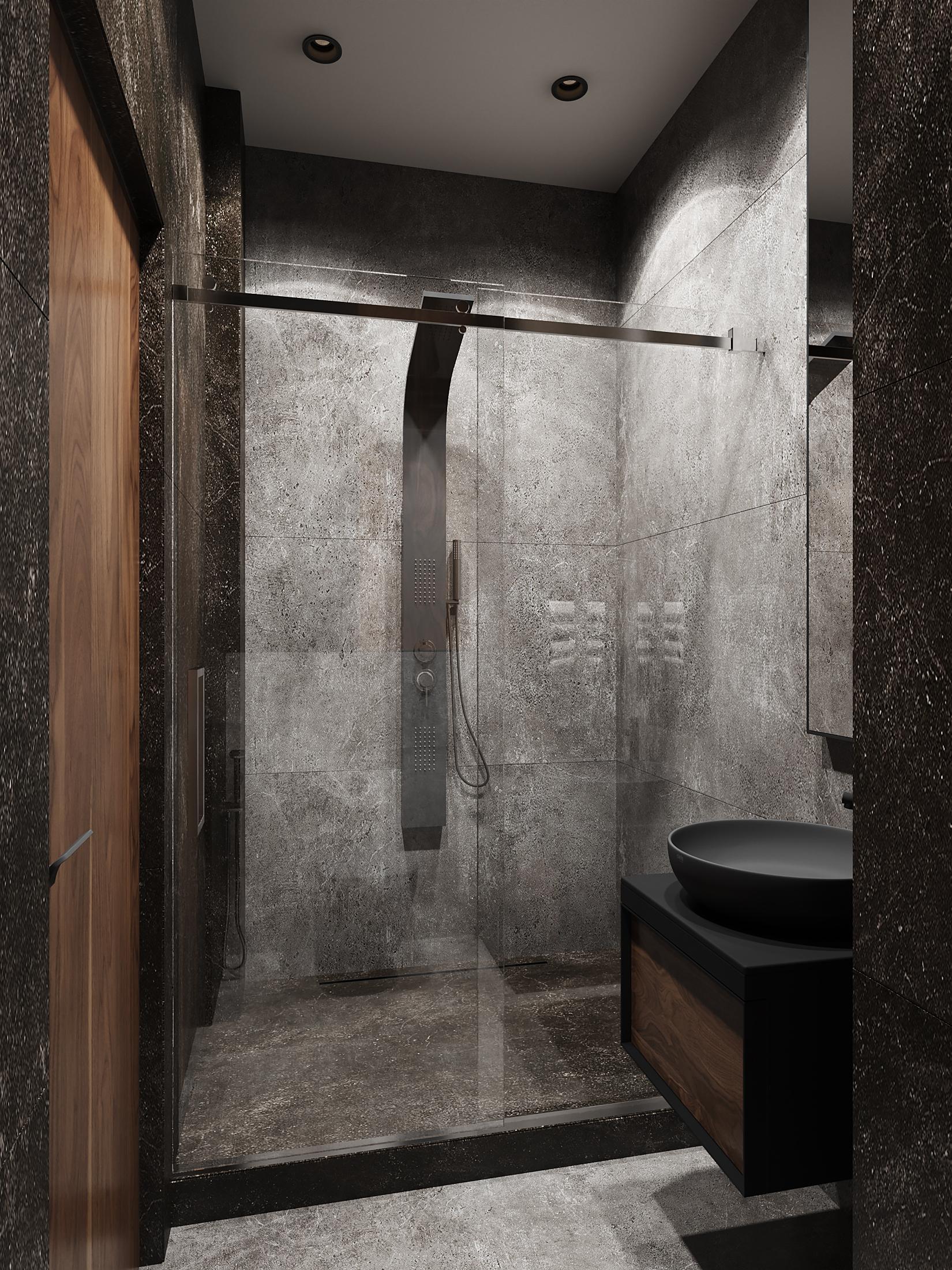 темная ванная пример проекта