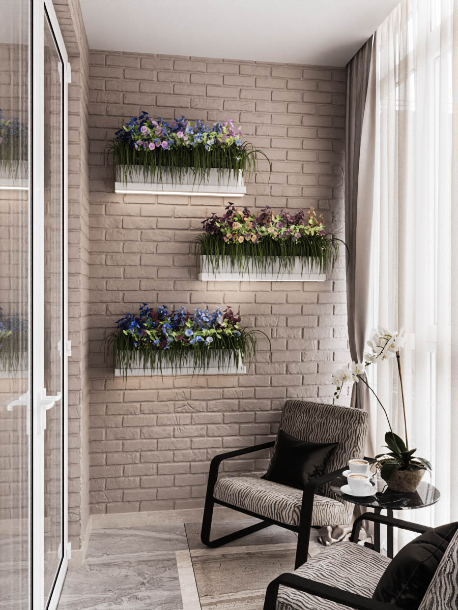 балкон кирпич