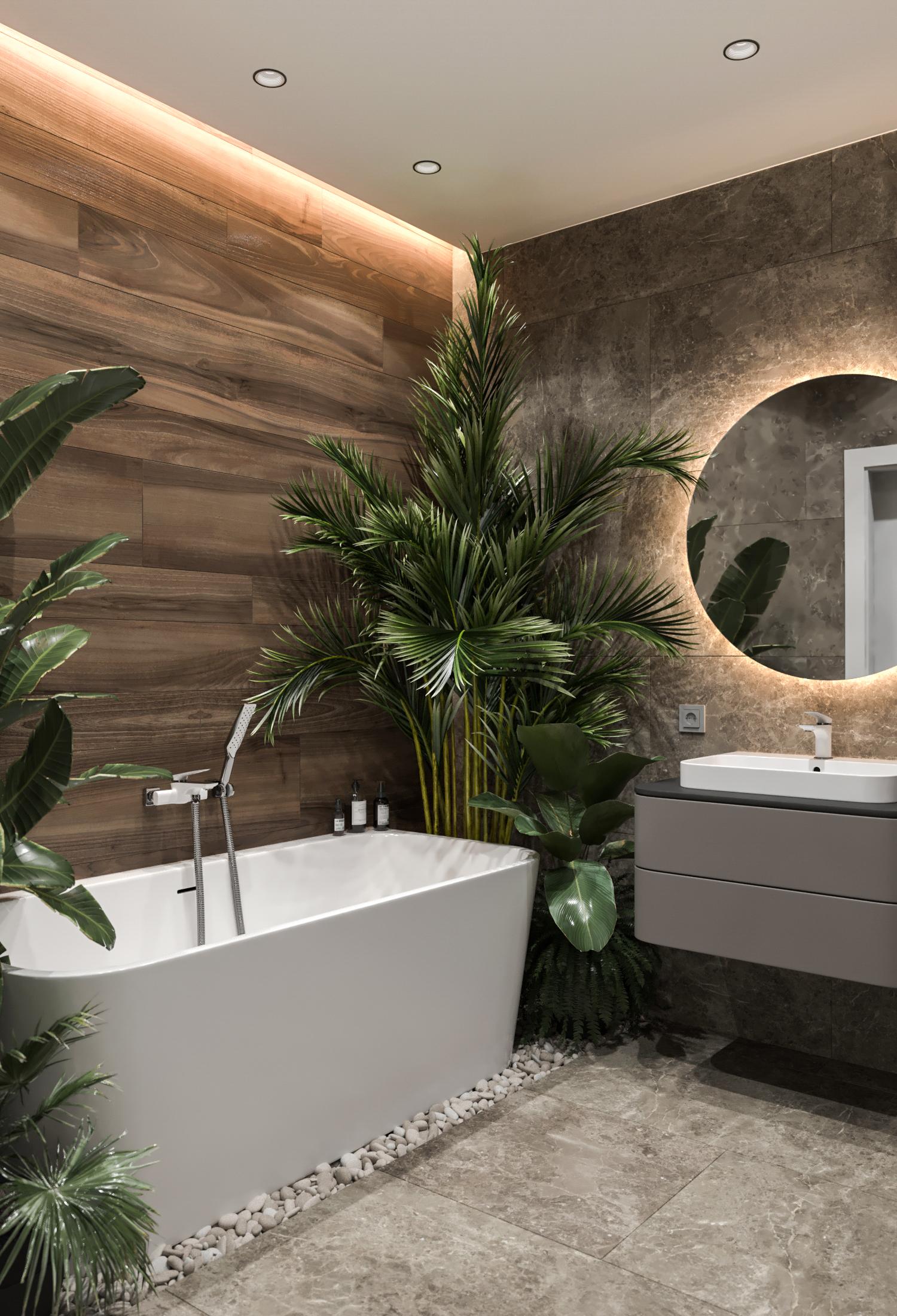 тропики в ванной