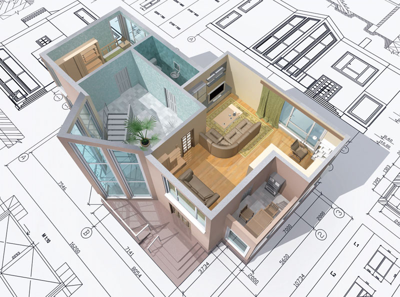 строительство дома и дизайн. Этапы