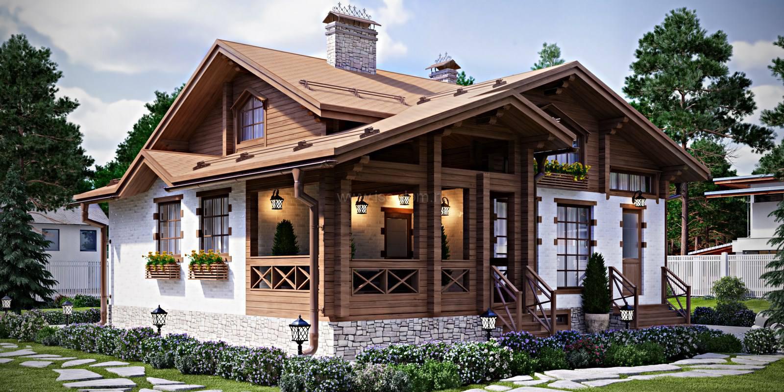 Дачные дома в стиле шале фото